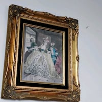 Vintage Victorian Picture in Ornate Gold frame Toronto, M2H