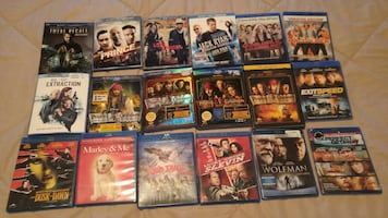 Assorted Blue Ray DVD's