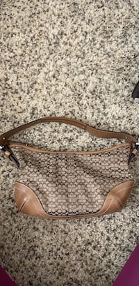 brown leather Coach monogram hobo bag Gainesville, 20155