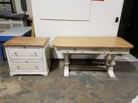BRAND STANELY DESK AND FILE CABINET