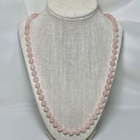 Genuine  Rose Quartz Beaded  Necklace Ashburn