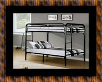 Twin bunkbed frame with 2 mattress East Riverdale