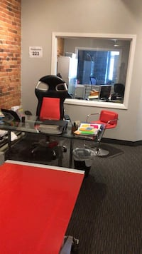 Office furniture: desks, chairs, bookshelves  Brossard