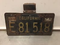 Vintage California License Plate Langley