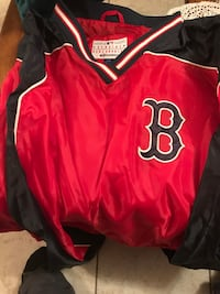 red and black B print letterman jacket Medford, 02155