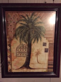 WALL DECOR FRAMED PALM TREE PRINT Monroe, 71201