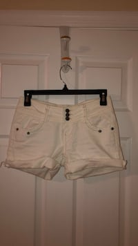white and black denim short shorts District Heights, 20747