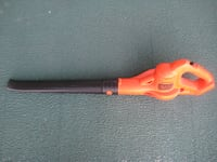 orange and black leaf blower null