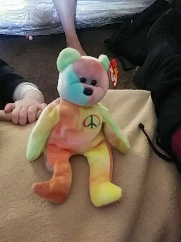 Used peace symbol TY beanie baby for sale in Reno - letgo b6b2b78e3c7
