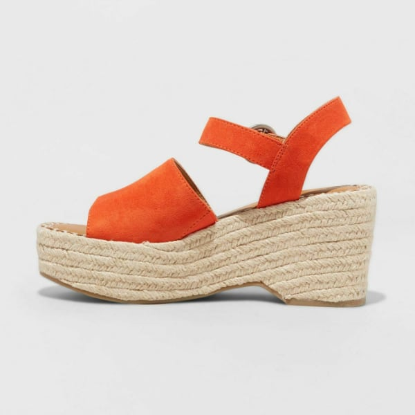 Women's Morgan Two Piece Espadrille Wedge - Coral