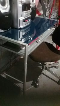 Desk with blue glass top 1302 km