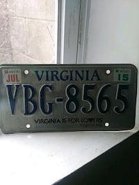 Virginia plate tag Brentwood