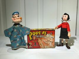 Vintage Popeye Puppet Pipe Set And Doll