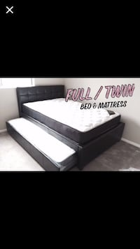 black bed  with mattress  Houston, 77077