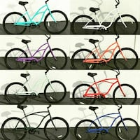 assorted color cruiser bicycles Costa Mesa