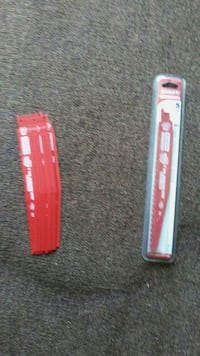 red and white saw blade