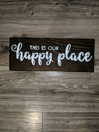 "Rustic sign ""this is our happy place"" Barrie, L4M 6Y8"