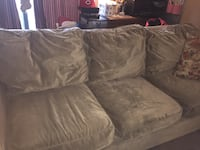 Light olive/sand 3 seater couch and chair Whitby, L1R