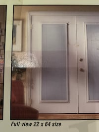 Glass enclosed door blind with slide knobs to open Silver Spring, 20910