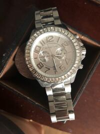 round silver Michael Kors chronograph watch with link bracelet Escondido, 92026