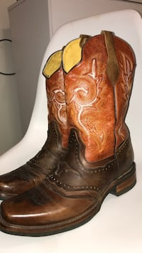 Gatillero brown leather boots  Edinburg, 78539