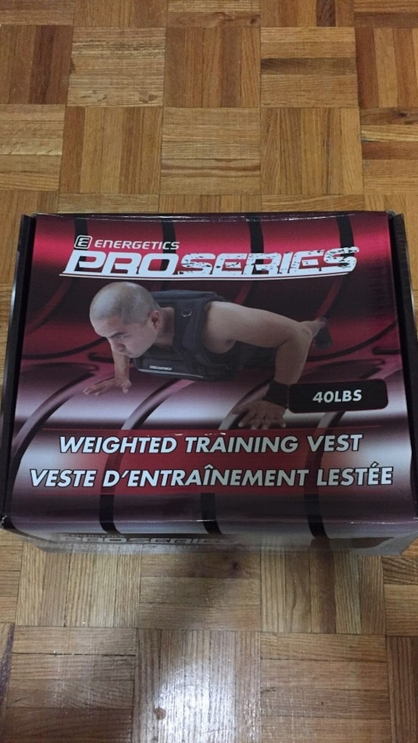 Brand new, Energetics Pro Series 40lb. Weighted Vest