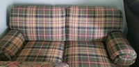 white, green, and red plaid sofa Petersburg