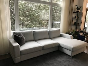 BEAUTIFUL BRENTWOOD FABRIC COUCH SET- Made in Canada!