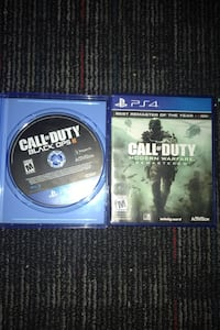 Two games cod3 and call of duty modern warfare remasterd good games Haverhill, 01832