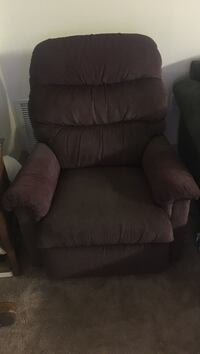 Brown fabric recliner chair Falls Church, 22042