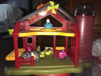 red and yellow plastic barnhouse playset Victorville, 92395