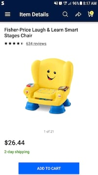 Fisher Price Laugh and Learn Chair Newark, 43055