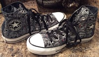 All Star Converse black, gray, & white high top sneakers Calgary, T2J 1V6