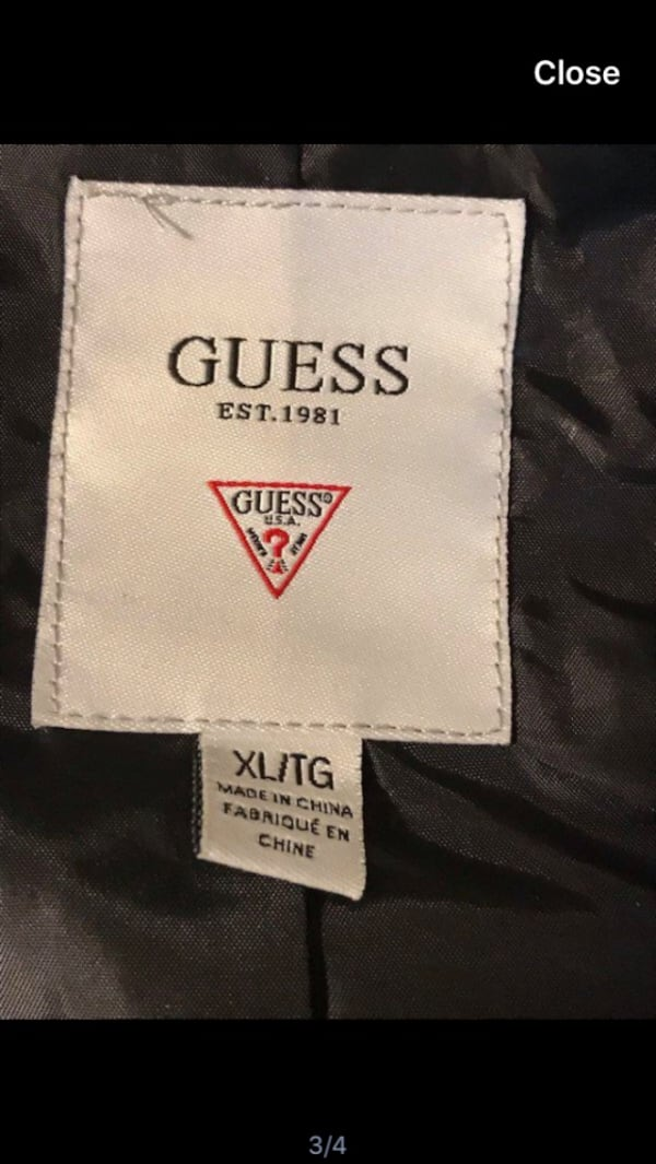 Black Guess Faux Leather Jacket 58439375-58bf-4bf9-96fc-76dfd47c8a75
