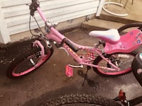 Girls bike with back chair for doll