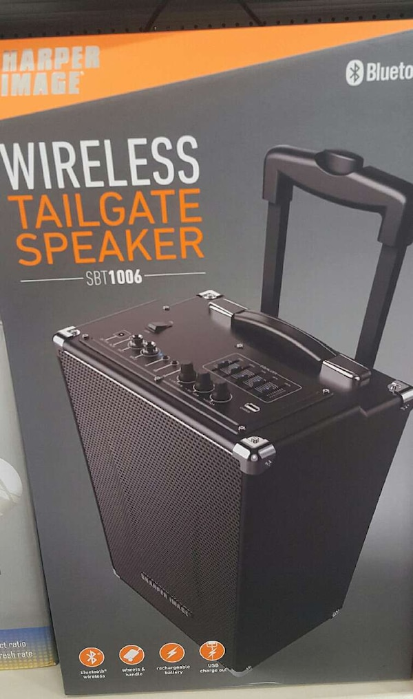 Used Sharper Image Sbt1006 Bluetooth Wireless Tailgate For Sale In