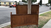 Brown wooden headboard and footboard size FULL Pico Rivera, 90660
