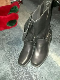 black leather harness boots Cape Canaveral, 32920
