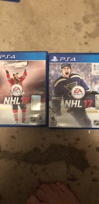 two Sony PS4 game cases Arlington, 22205
