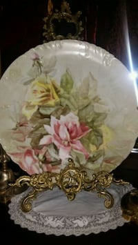Antique Limoge Han painted Charger Plate Vista, 92084