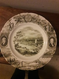 White and gray commemorative plate Beaverton, 97008