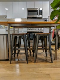 Industrial Modern Counter Stools (Set of 4) Boston, 02128