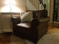 Brown Caux Leather Armchair Arlington, 22204