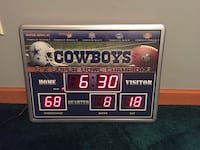 Dallas Cowboys 5xchamp scoreboard clock Pontiac, 61764