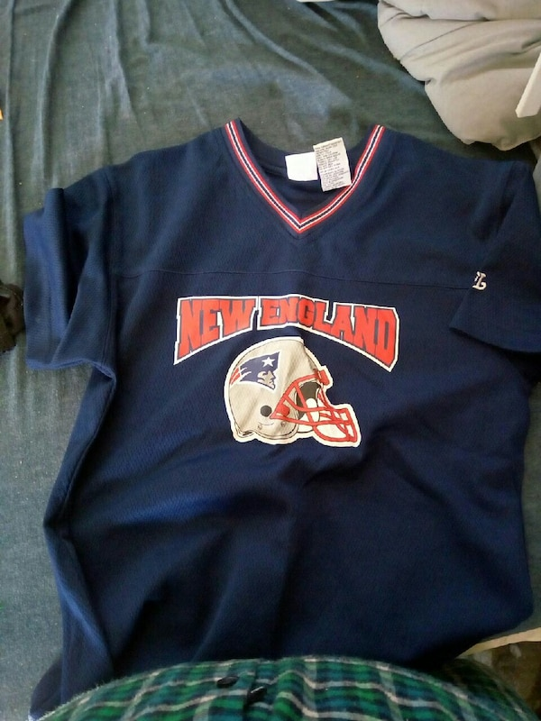 Used blue New England Patriots jersey shirt for sale in Pahrump letgo  supplier