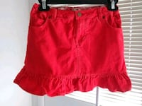 Land's end girls size 7 red skirt