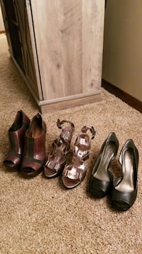 3 pairs of Heels - Jessica Simpson and Steve Madden size 6