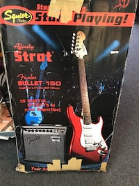 Electric guitar with fender amp all you need to rock 'n' roll North Miami Beach, 33162