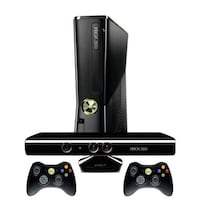 Black xbox 360 with controllers Aurora, 60504