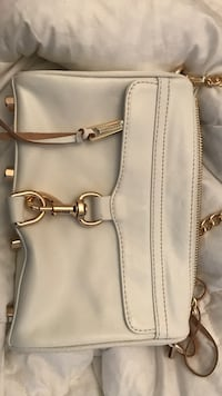 Women's white leather shoulder bag Vaughan, L4H 1L7